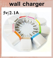 Wholesale wall charger dual ports power adapter ports usb fast charger coloful rim A A charging adapter home travel charger universal CAB062