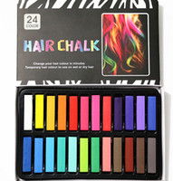 Wholesale Brand Cosmetics Easy Temporary Colors Non toxic Hair Chalk Dye Soft Hair Pastels Kit short style DHL