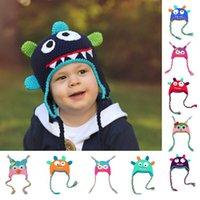 Wholesale Newborn Owl Beanie Hats High Quality Baby Girl Boy Infant Knit Crochet Clothes Parrot Knit Toddler Cap Handmade Warm Cotton Hat