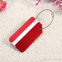 Wholesale Fashion Aluminium Metal Travel Baggage Luggage Suitcase Address Tag Label Holder FFw