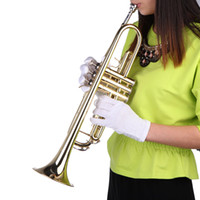 Wholesale New Arrivel Musical Instruments Trumpet Bb B Flat Brass Exquisite with Mouthpiece Gloves