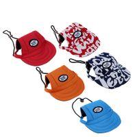 pet fabric - Fashion Adorable Dog Visor Breathable Fabric Comfortable Baseball Hat Pet Sun Hat Cute Sun Cap with Ear Holes H15669