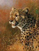 african cheetah - oil painting Pure hand painted on canvas sweetveld The hungry cheetahs African leopard