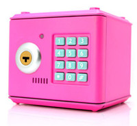 Wholesale Birthday gift Piggy bank with key and password Mini box safety box creative Money box Saving bank educational electronic toys