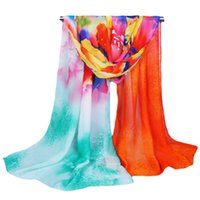Cheap 2015 womens fall fashion scarves women thin long chiffon winter scarf vintage floral printed shawl hot sale order<$18no track