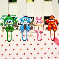 Wholesale Popular Robocar Poli kid love Paperclip Bookmarks for Book Page Holder School Office Party Supplies Stationery