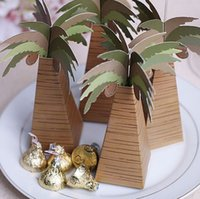 baby shower tree - 96pcs wedding favor box coconut Palm Tree baby shower favor box wedding accessories decoracion boda wedding favors and gifts