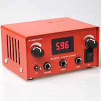 Wholesale 9430 Tattoo Power Supply Digital LCD Display Red Color Tattoo machine gun supplies ink kits