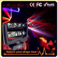 Wholesale 2pcs a dual flight case for led x10w rgbw in1 led spider beam light led bar beam moving head spider light