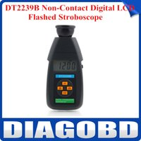 Wholesale High Precision DT2239B Non Contact Digital LCD Flashed Stroboscope RPM Tachometer Tester by