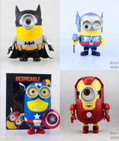 Wholesale Retail Package Despicable Me Action Figures Avengers Iron Man Captain American Batman Thor Toy Doll Best Gift For Kids