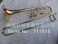 Wholesale Sandhi Tenor Trombone Alloy Copper Speaker Plated Trombon Tuba corno frances doble YBL G