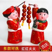 red clay - Handmade gift decoration gift decoration red clay zhang Chinese wedding gift