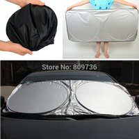 Wholesale Car Windshield Sun Shade New Car Styling Nylon Front Window Sunshade UV Protect car Window Film cm Foldable Free