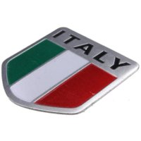 Cheap Alloy Metal Auto Racing Sports Emblem Badge Decal Sticker For Italy Italian Flag FREE SHIPPING M2419
