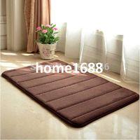 microfiber suede - Bathroom Living Room Coffee Soft Microfiber Suede Memory Foam Non Slip Bath Mat Outdoor Door Carpet Doormat