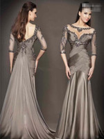 Cheap Backless Mermaid Evening Dresses Best Formal Gowns With Long Sleeves