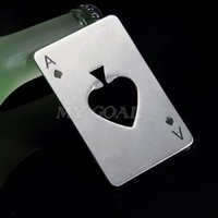 cans of soda - Poker Playing Card Ace of Spades Bar Tool Soda Beer Bottle Cap Opener Xmas Gift
