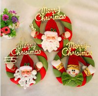 christmas wreath ring - Cute Christmas Tree Wreath hot christmas wreath decoration garland hangings christmas wreath ring door hanging garishness decoration D370