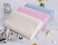 Wholesale New Arrival Colors Wave Memory Foam Pillow High Quality Massage Pillow Super Soft Bamboo Fiber Pillow