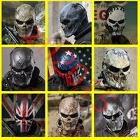 Wholesale 9 Style Outdoor Wargame Tactical Mask Outdoor Military Game Paintball Balaclava Airsoft Skull Full Face Protect Mask