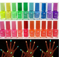 Wholesale Hotsell Candy Colors Glow The Dark Luminous Fluorescent Nail Art Polish Enamel New Arrived Promotion TY1292
