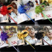 adult school wear - 2016 Fashion Women Venetian Masks Sexy Halloween Masquerade Party Masks Flowers Rhinestone Hold Gold Masks Dance Prom Wear Cheap