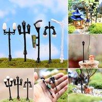 Wholesale Mini Streetlights Miniature Garden Ornament for Plant Pots Fairy Garden Crafts