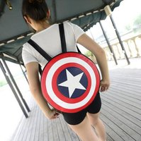 Wholesale Superhero Avengers Captain America bag Leather Roundness Captain America Backpack High capacity Relaxation Bag Men And Women Backpack gift