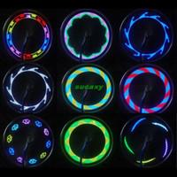 al por mayor venta caliente de la motocicleta-Vendedores calientes Luces de bicicleta 14 LED de la motocicleta de la bicicleta de la bici de la rueda del rayo del neumático de la señal de luz 30 Cambios accesorios de la bicicleta Envío gratuito