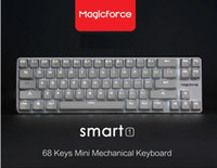 alu stock - Magicforce Smart Keys White Backlit Antighosting USB Mechanical Gaming Keyboard Alu Alloy Cherry MX Brown Switches Double PCB