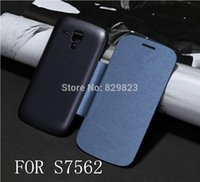 galaxy s battery - For Samsung Galaxy Trend Plus S Duos S7580 S7560 Flip Leather Back Cover Cases Battery Housing Case