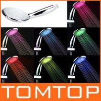 Wholesale Bathroom Products Colors Handheld Automatic Control Sprinkler LED Shower Head order lt no track