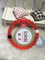 Wholesale 2016 Newest Red Lokai Bracelets Mud and Water Black and White beads lokai Silicone Bracelet Gift Jewelry Find Your Balance Lokai Free DHL