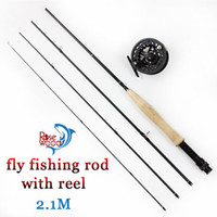 action rods - Cheap fly fishing set pesca fast action m fly fishing rod pole fly fishing reel flies