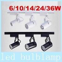 led track lighting - Black White Shell W W W W W Led Track Lights Angle Warm Natural Cool White Led Ceiling Spot Lights AC V