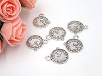 antique watch parts - Hot Sale Charme mm European Style Watch Charm Antique Jewellery Pendants For Bracelets Parts For Jewelry Making