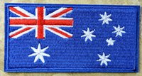 Wholesale HOT SALL Australia Flag Australian Iron On Patches sew on patch Appliques Made of Cloth Quality