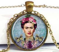 art frida - Frida Kahlo pendant necklace Frida Kahlo jewelry art pendant charm feminist pendan