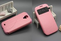Cheap For Samsung Wholesale Free DHL New color Best PU Pink Fashion Luxury Flip Leather case