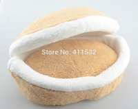 Wholesale Cat Hamburger bed Litter disassembly Windproof Pet Nest Shell Cat Bed Hiding Burger Bun CA37168