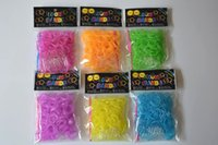 Cheap Rainbow Loom Rubber Loom Quality Glow in the dark rubber band loom kit DIY colorful Bracelets Educational toys for children Christmas gifts
