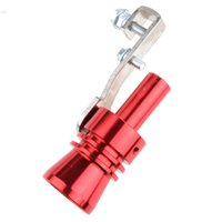 Wholesale Universal Car Turbo Sound Whistle Muffler Exhaust Pipe Fake Blow off BOV Simulator Whistler Size XL Red b8