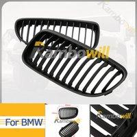 Wholesale 1Pair Matt Black Kidney Hood Grilles Auto Front Grill For BMW E90 Series Sedan i i