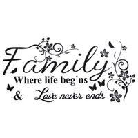 beautiful life quotes - Beautiful Design Family Love Life Quote Wall Sticker Where Life Begins Wall Decal DIY Removable Wallpaper