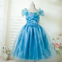 photos clothes - 2015 New Arrival Cinderella Girls Party Dresses Actual Photo Ball Gown Children Princess Dress Gauze Butterfly Kids Clothes TR165