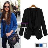 Wholesale Fashion Jacket Blazer Women Suit Long Sleeves Lapel Coat Lined With Striped Single Button Vogue Blazers Jackets B16 SV006065