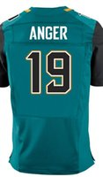 anger free - Factory Outlet Men s Bryan Anger Jersey Elite White Green Black Stitched Name And Number