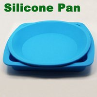 Wholesale Square round silicon baking mould bakeware cake Pan silicone cake tray silicone rubber plate food grade silicone baking tray microwave pan