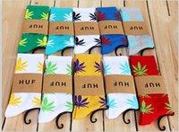 Wholesale 200pcs Hot Christmas Gift HUF Plantlife Crew Socks quot URBAN FASHION UNISEX quot Maple Leaf mixed colors Free DHL